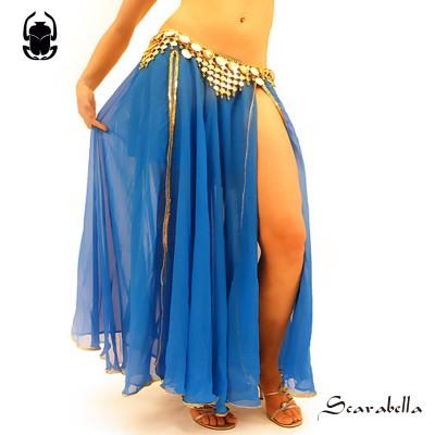 Buikdans rok blauw