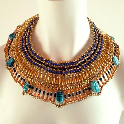 Egyptisch halssieraad goud