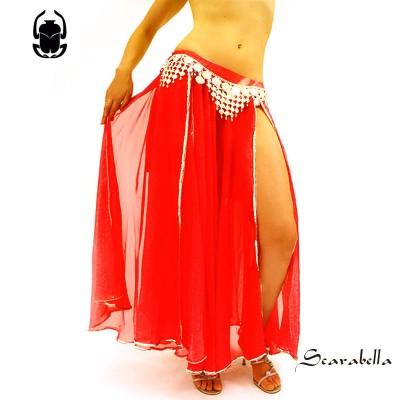 Buikdanskleding rok rood